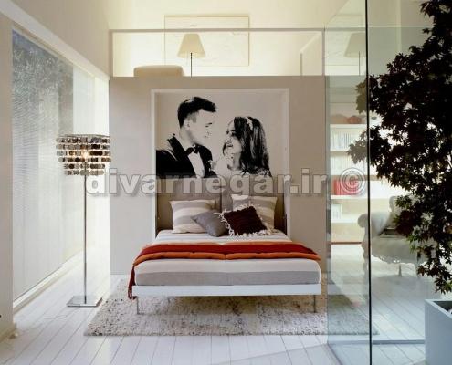 نقاشی روی دیوار اتاق عروس و داماد