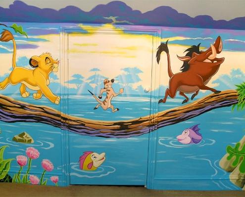 نقاشی دیواری مهدکودک