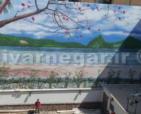 نقاشی دیواری بزرگ هتل بهار تهران