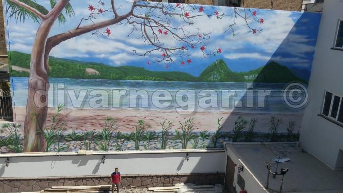 نقاشی دیواری طبیعت