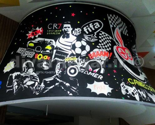 نقاشی دیواری تابلو بلک لایت
