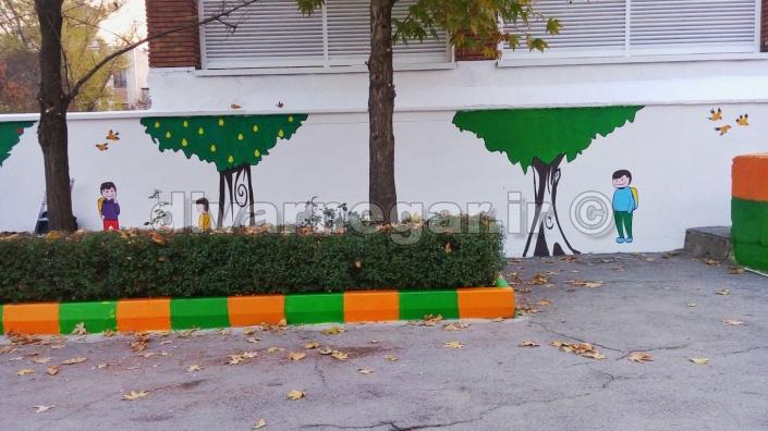 نقاشی دیواری مدارس تهران