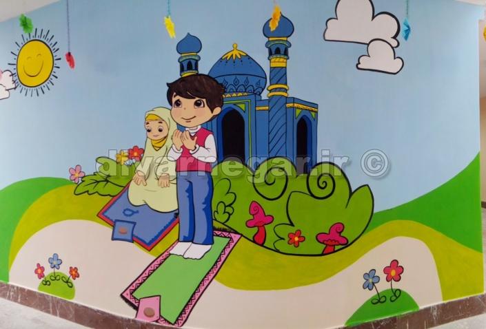 نقاشی دیواری مهد کودک