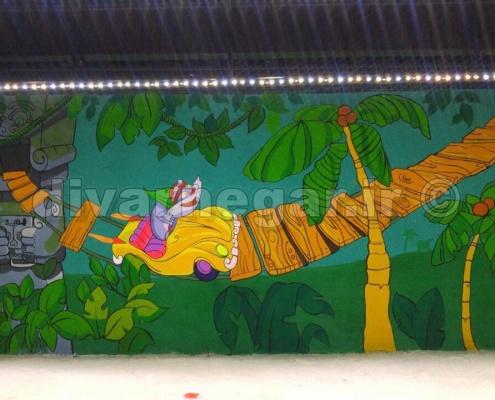 نقاشی دیواری شهربازی ماجراهای پالاس