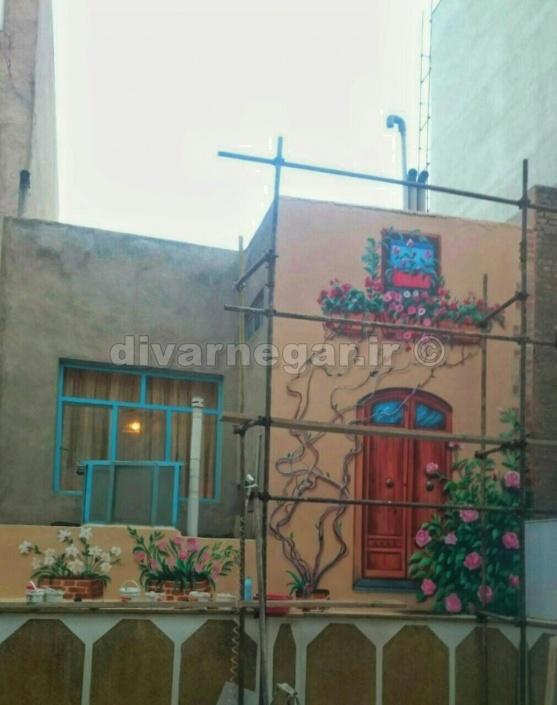 نقاشی دیواری کاه گلی