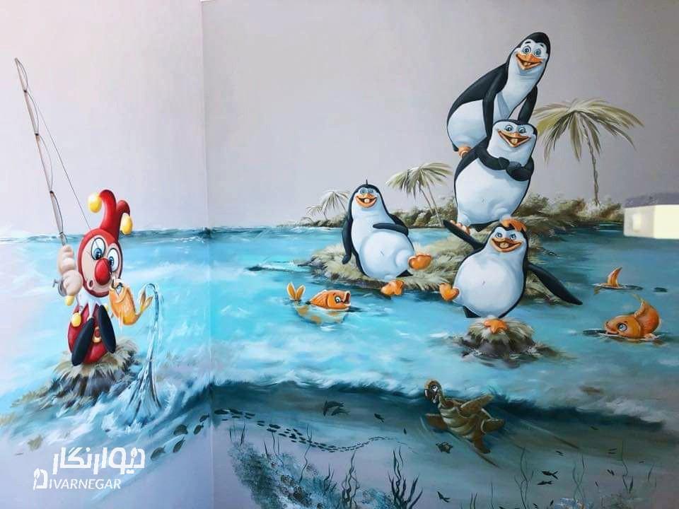سفارشات نقاشی روی دیوار کودکانه