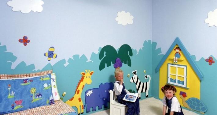 kids room wall murals wall murals on kids room luxury 710x375 - خانه