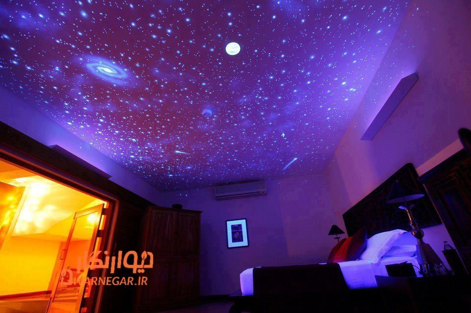 نقاشی شبتاب روی سقف