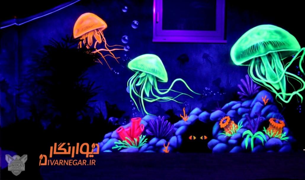 نقاشی شب تاب دریایی