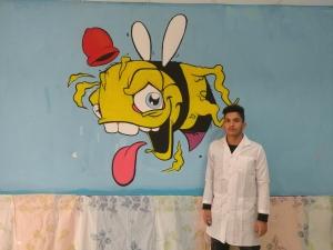 کاراکتر گرافیتی 300x225 - آموزش مجازی نقاشی دیواری